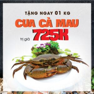 ưu đãi 01kg cua Cà Mau khi đến nhà hàng Hải Sản Lã Vọng